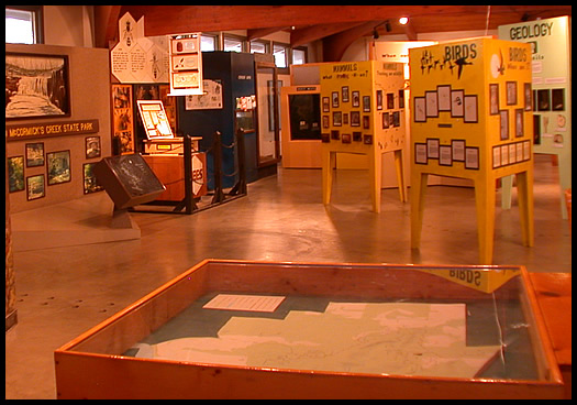 Nature Center displays, games and quizzes