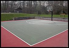 basketball court outside Recreation Center