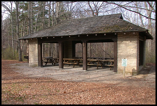 Old Concession Shelter Picture Mccormick S Creek State